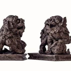 现代木雕刻3D模型【ID:346533649】