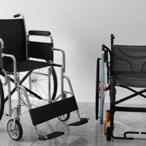 现代轮椅3D模型【ID:433772565】