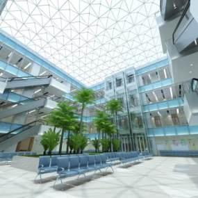 現代醫院大堂3D模型【ID:953189751】
