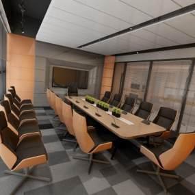 现代风格会议室3D模型【ID:943568158】