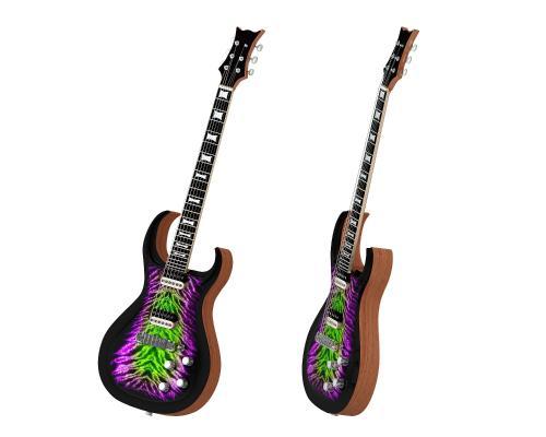 现代吉他3D模型【ID:335427944】