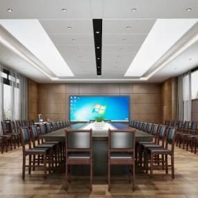 现代会议室3D模型【ID:935837170】