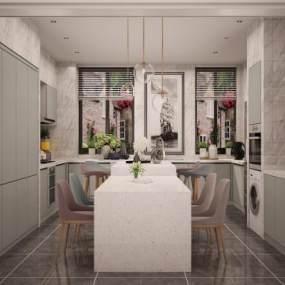 现代厨房3D模型【ID:153146875】