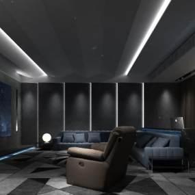 現代家庭影院3D模型【ID:547262999】