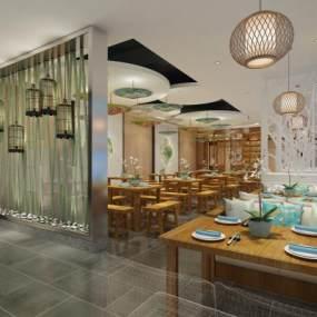 新古典餐厅3D模型【ID:634706230】