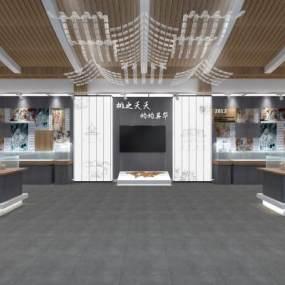 桃类文化主题展厅3D模型【ID:930465726】