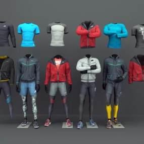 现代服装模特3D模型【ID:132866013】