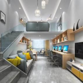 现代小公寓办公室3D模型【ID:934837020】