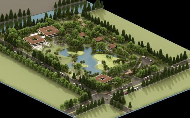 高尔夫球场模型3D模型【ID:241480065】