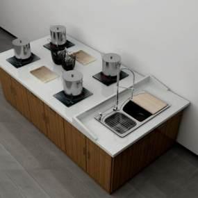 烹饪桌3D模型【ID:842575837】