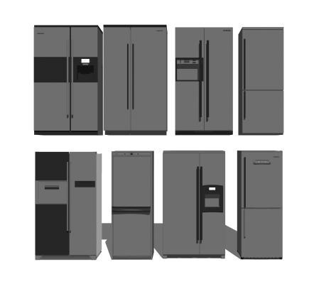 現代冰箱組合SU模型【ID:648160883】