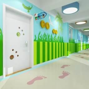 現代幼兒園3D模型【ID:946551617】
