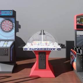 现代游戏设备3D模型【ID:335746976】