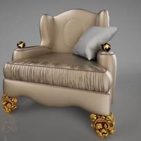 欧式单人沙发3D模型【ID:633742411】