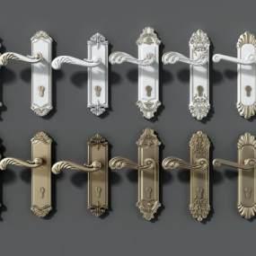 欧式门把手门锁金属门把手3D模型【ID:333467338】