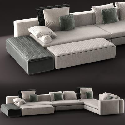 意大利Minotti米洛提现代沙发组合国外3D模型【ID:632338792】