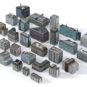 现代建筑群3D模型【ID:153253965】