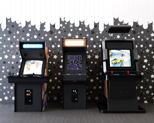 商场游乐场游戏机街机设备组合3D模型【ID:843877622】