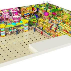 森林糖果淘气堡儿童乐园3D模型【ID:143455288】