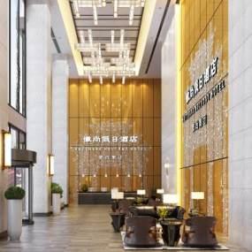現代酒店大堂3D模型【ID:743961002】