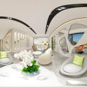 现代整形美容概念医院多空间全套图3D模型【ID:932229745】