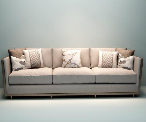 現代三人沙發3D模型【ID:631754662】