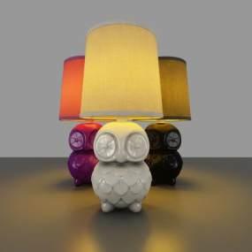 现代简约风格台灯3D模型【ID:832545124】