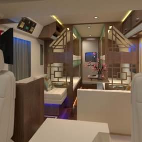 中式房车3D模型【ID:449965702】