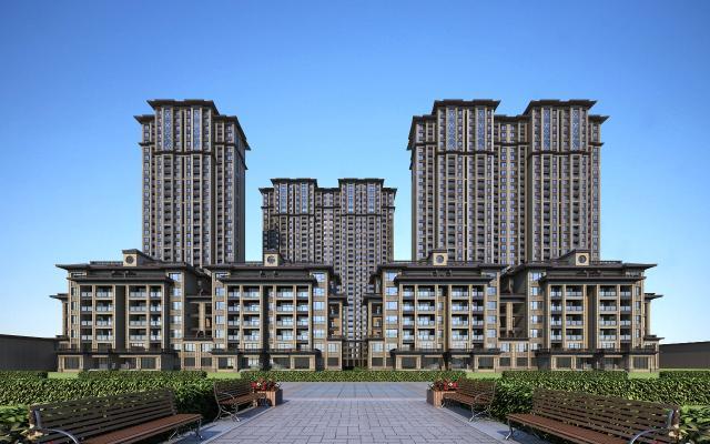 新中式住宅3D模型【ID:141682747】