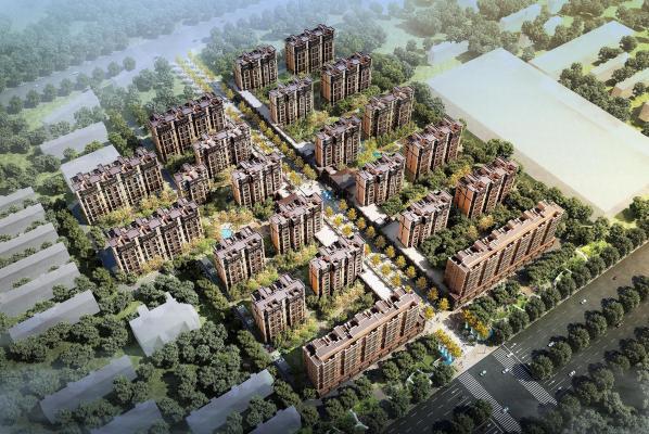 現代某小區鳥瞰建筑3D模型【ID:132753769】