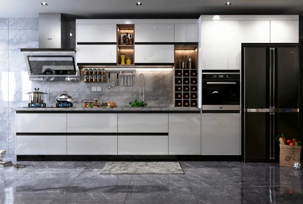 现代风格厨房3D模型【ID:545651381】