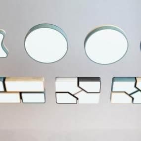 現代吸頂燈3D模型【ID:852009062】