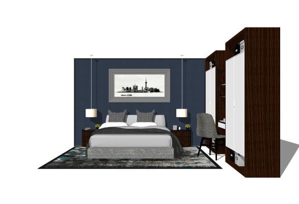 現代臥室SU模型【ID:545993220】