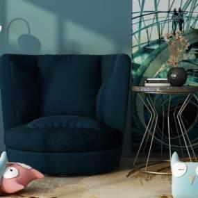 现代椅子3D模型【ID:733088729】