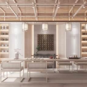 新中式茶室3D模型【ID:650769186】