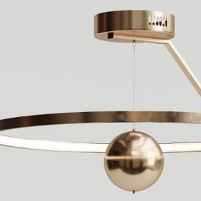 现代金属吊灯3D模型【ID:731924814】
