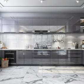 现代厨房3D模型【ID:545703399】
