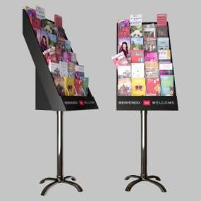 现代杂志书籍展架3D模型【ID:150763571】