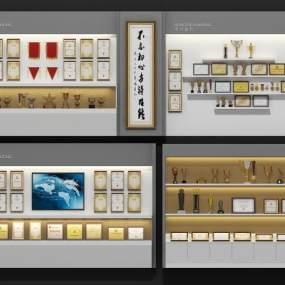 现代奖杯奖牌展厅3D模型【ID:933196732】