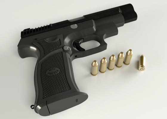 手枪3D模型【ID:440643223】