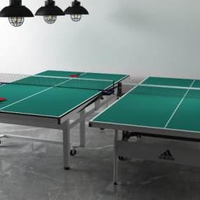 现代乒乓球桌3D模型【ID:333741821】