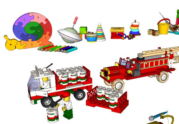 现代儿童玩具SU模型【ID:952091432】
