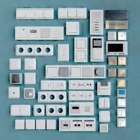 现代开关插座面板3D模型【ID:333167365】