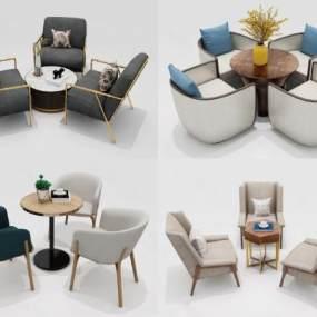 北欧桌椅组合3D模型【ID:849061885】