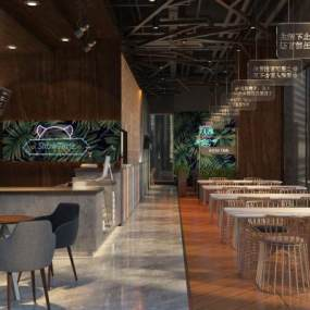 咖啡厅3D模型【ID:630431319】