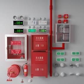 現代滅火消防噴3D模型【ID:446774586】