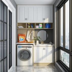 現代洗衣機擺件3D模型【ID:234787647】