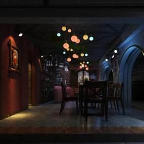 工业风小酒吧设计3D模型【ID:648109955】