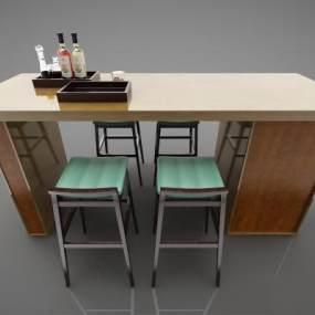 现代风格吧台3D模型【ID:945238292】