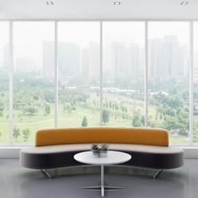 现代休闲沙发茶几模型3D模型【ID:643768721】